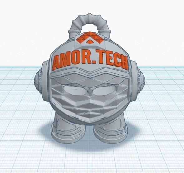 Custom Branded Amortech 3D Marvin Model